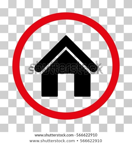 home flat intensive red and black colors rounded glyph icon stock photo © ahasoft