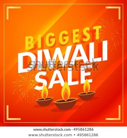 Surpreendente diwali venda desconto modelo Foto stock © SArts