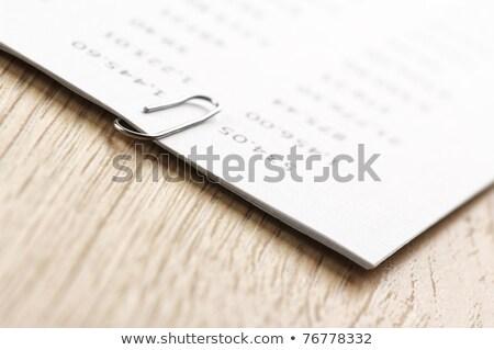 Kâğıt ahşap masa Metal tablo kırpmak Stok fotoğraf © wavebreak_media