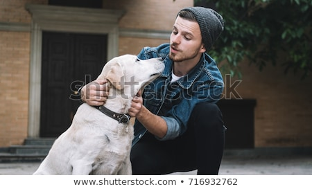 Portrait of a man with his dog Stock photo © IS2