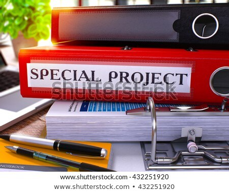 red ring binder with inscription special project stock photo © tashatuvango