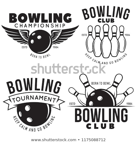 Retro bowling yalıtılmış beyaz vektör eps10 Stok fotoğraf © balasoiu