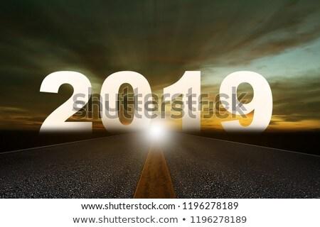 yol · işareti · değiştirmek · beyaz · yeni · yıl - stok fotoğraf © mikhailmishchenko