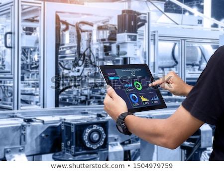 Manufacturing factory, modern high-tech production Stock photo © Traimak