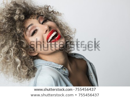 Portrait of blondes with a chic smile and white teeth Stock photo © ElenaBatkova