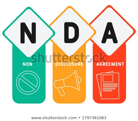 nondisclosure agreement concept landing page stock photo © rastudio