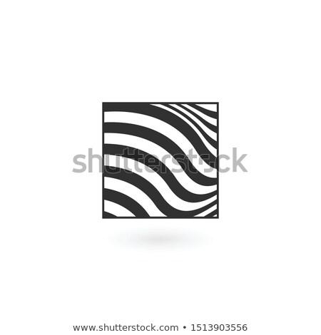 抽象的な 波状の ロゴ 広場 パーフェクト ストックフォト © kyryloff