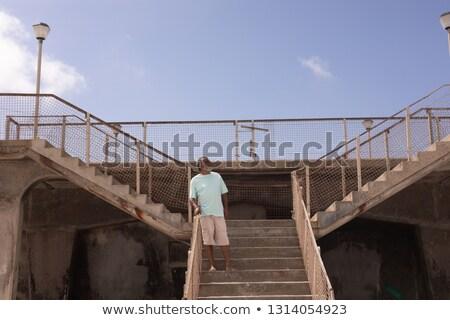 Front widoku starszy człowiek stałego promenada Zdjęcia stock © wavebreak_media