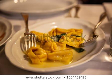 Tortellini tereyağı adaçayı lezzetli İtalyan taze Stok fotoğraf © Francesco83