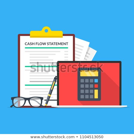 Cash flow statement concept vector illustration. Stock photo © RAStudio