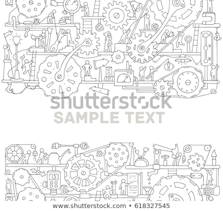 space hand drawn doodle banner cartoon detailed illustrations stock photo © balabolka