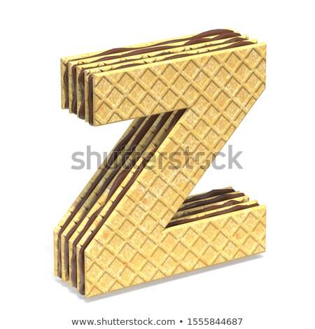 Betűtípus csokoládé krém tömés z betű 3D Stock fotó © djmilic