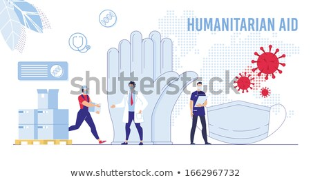 Humanitarian aid concept vector illustration. Stock photo © RAStudio