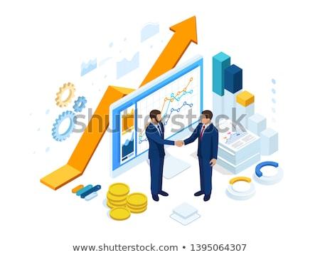 Fournir chaîne analytics logistique industrie résultat Photo stock © RAStudio