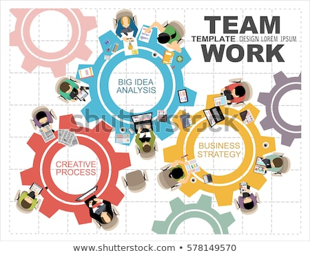 Takım çalışması iş danışman dizüstü bilgisayar vektör insanlar Stok fotoğraf © robuart