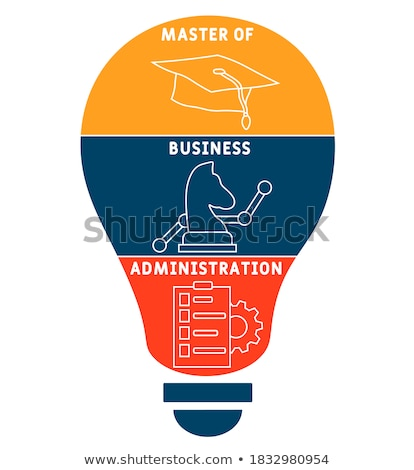 Meester business administratie iconen groot brieven Stockfoto © tashatuvango