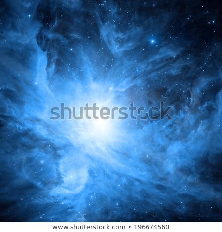 Vivid space nebula - supernova remnant. Elements of this image furnished by NASA Stock photo © NASA_images