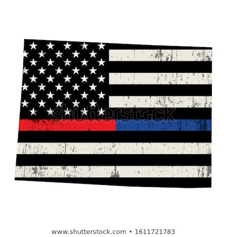 Colorado strażak wsparcia banderą ilustracja amerykańską flagę Zdjęcia stock © enterlinedesign