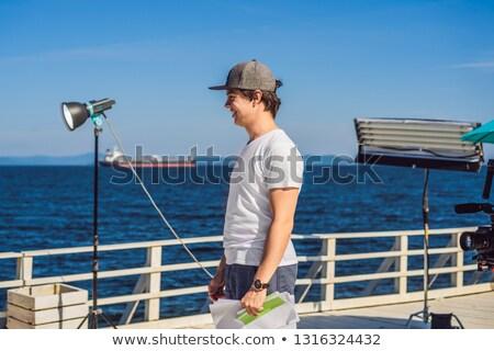 Directeur musical clip productie ingesteld werken Stockfoto © galitskaya