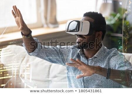 Casco gafas de protección tecnología digital gafas dispositivo Foto stock © make
