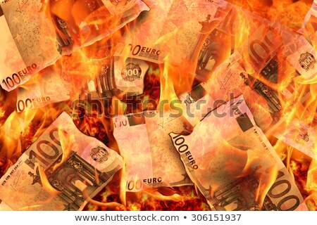 Euro yanan nakit dikkat görüntü Stok fotoğraf © albund