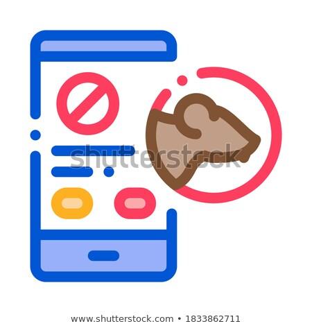 Rat smartphone dienst icon vector Stockfoto © pikepicture