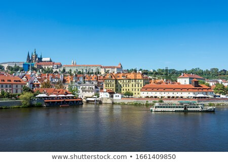 Rivier Praag Tsjechische Republiek water stad Stockfoto © manfredxy