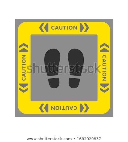 Square Poster of a Grey Coronavirus Icon Stock photo © cidepix
