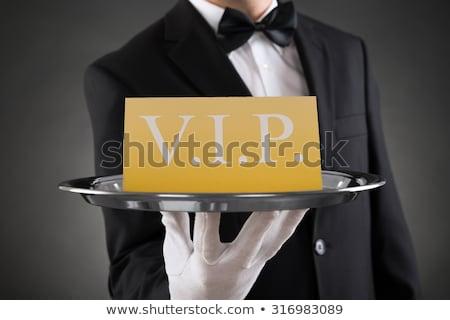 Vip pincér vendégszeretet szolgáltatás személyzet mutat Stock fotó © AndreyPopov