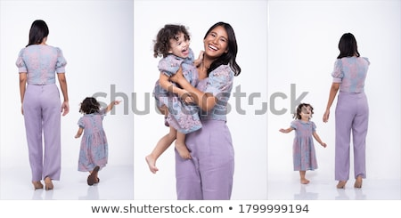 Profile of Smiling Woman in Purple Blouse Isolated Stock photo © robuart