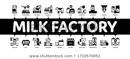 Mleka fabryki produktu minimalny banner Zdjęcia stock © pikepicture