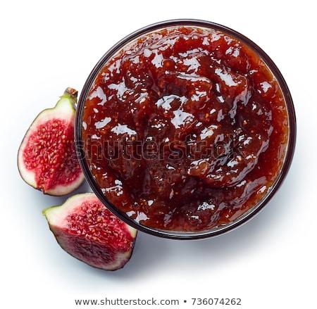 Figa jam jar żywności owoców Zdjęcia stock © Pheby