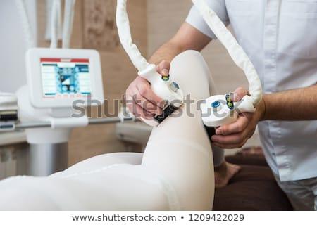 Laser abdominale région centre de beauté fille Photo stock © olira