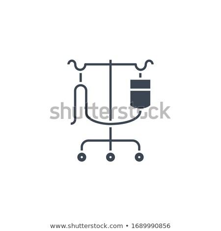Cseppentő áll vektor ikon izolált fehér Stock fotó © smoki