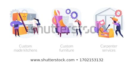 Apartment interior design abstract metaphors Stock photo © RAStudio