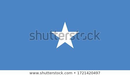 Somalië vlag witte teken afrika golf Stockfoto © butenkow