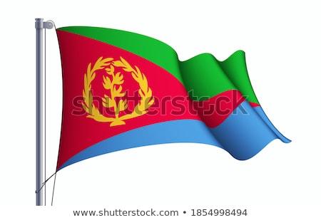 Erytrea banderą biały projektu ramki podróży Zdjęcia stock © butenkow