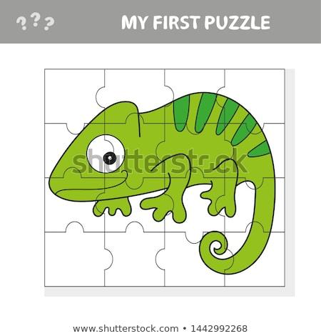 Jogo crianças atividade página quebra-cabeça crianças Foto stock © natali_brill