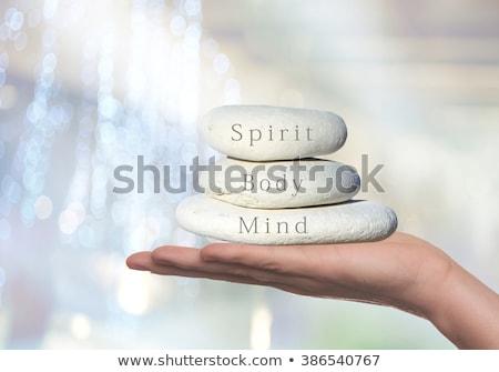 Corpo mente spirito equilibrio diagramma mano Foto d'archivio © ivelin