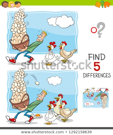 Spot the difference test 1 Stock photo © Olena
