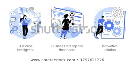 Business intelligence dashboard vector concept metaphor Stock photo © RAStudio