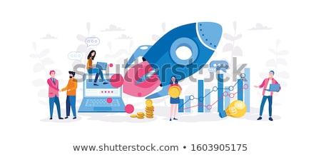 Startup accelerator concept landing page. Stock photo © RAStudio