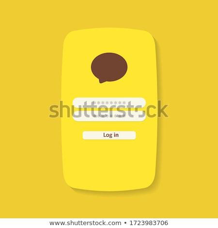 メッセンジャー インターフェース 開始 ベクトル スマートフォン ストックフォト © robuart
