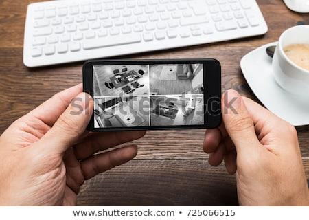 Seguridad cctv cámara vídeo Foto stock © AndreyPopov