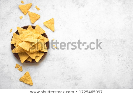 Mexicano nachos batatas fritas molho topo ver Foto stock © karandaev