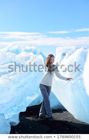 アイスランド 観光 氷山 ビーチ 徒歩 氷 ストックフォト © Maridav