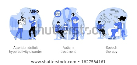 Attention deficit hyperactivity disorder abstract concept vector illustration. Stock photo © RAStudio