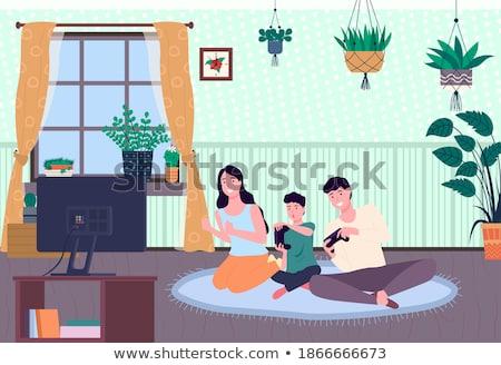 семьи играет видеоигра мамы папу сын Сток-фото © robuart