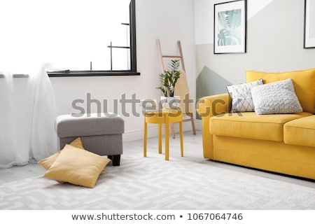 Comfortable sofa with cushions in cozy living room Stock photo © dashapetrenko