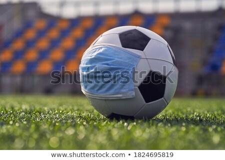 Blauw · voetbal · doel · veld · groen · gras - stockfoto © pressmaster